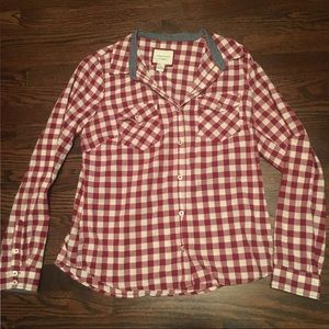 Forever 21 Large Plaid Button Down
